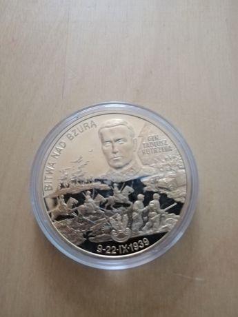 Moneta numizmaty i pudełko i certyfikatem