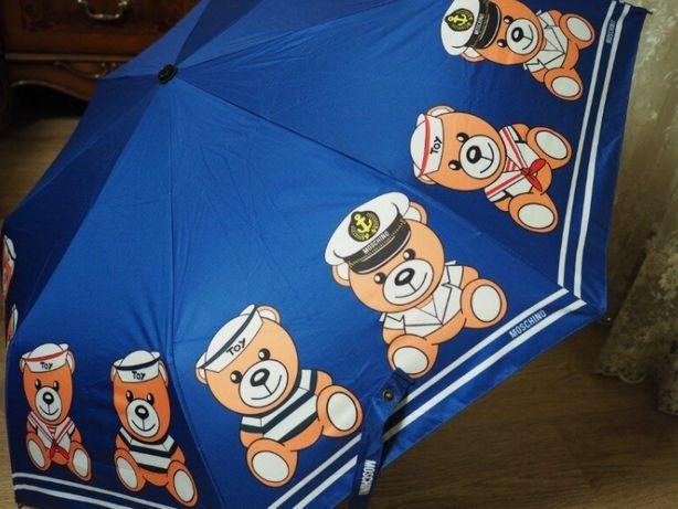 Стильный брендовый зонт Moschino toy . Автомат