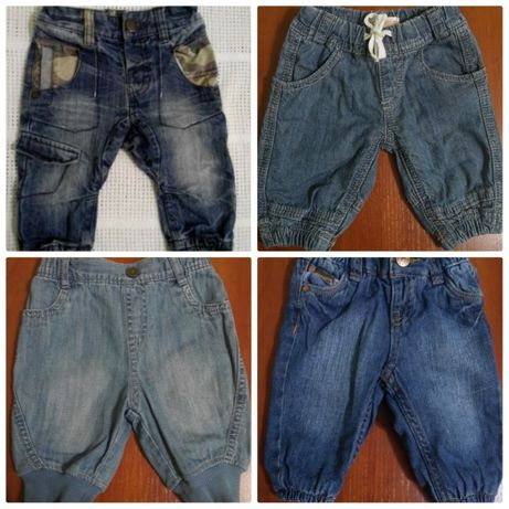 Фирменные джинсы Next,H&M 0-3,3-6,6-9
