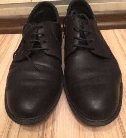 Туфли черные кожа большой размер