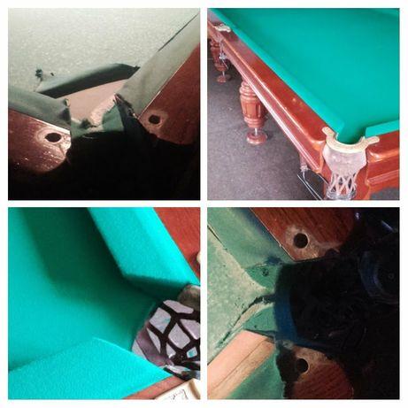 Перетяжка,ремонт и реставрация бильярдных и покерных столов