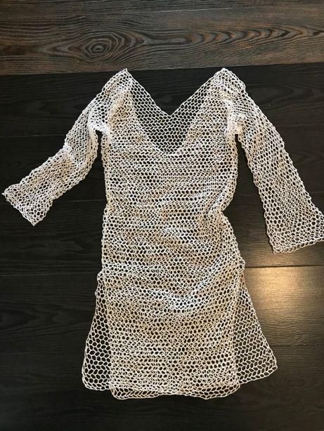 Пляжная туника платье сетка размер S/М