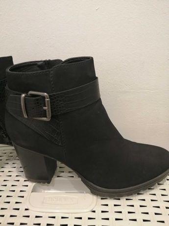 Buty botki czarne 39