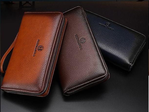 Мужской кожаный стильный новый кошелек клатч мужская борсетка портмоне