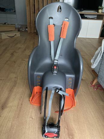 Fotelik rowerowy / na rower Kross Wallaroo szary pomarańczowy