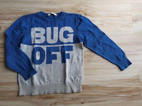 H&M miękki sweter rozm. 110/116
