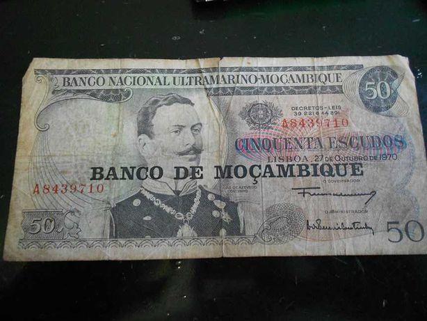 Nota do Banco Nacional Ultramarino 1970
