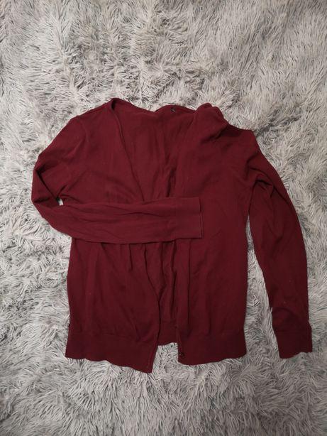 Sweter kardigan bordowy S/M