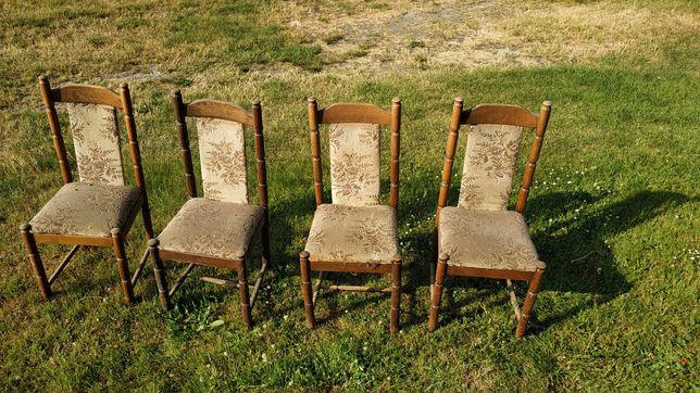 Krzesła do renowacji 4szt. // krzesło stare prl meble