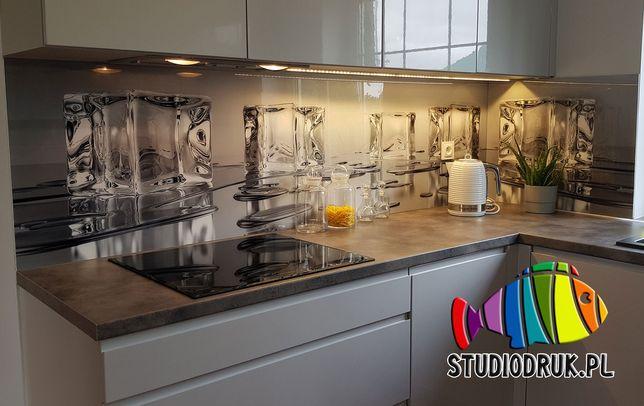 Szkło na ścianę hartowane panel szklany z pomiarem i montażem