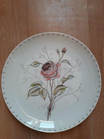 Porcelanowe talerze niemieckiej firmy Furstenberg