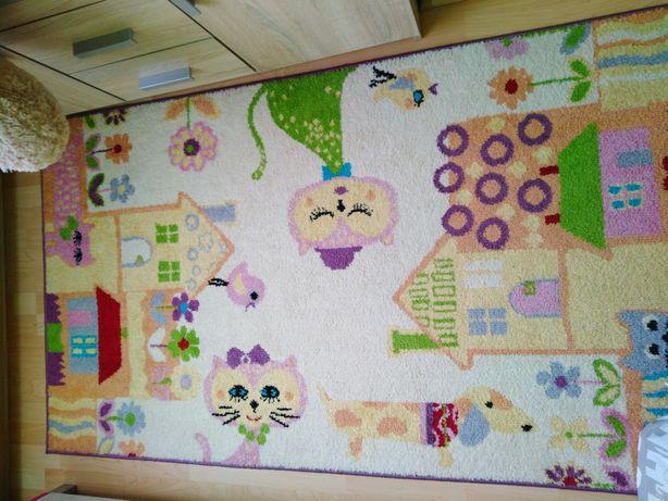Dywan dziecięcy, kolorowy, kotki