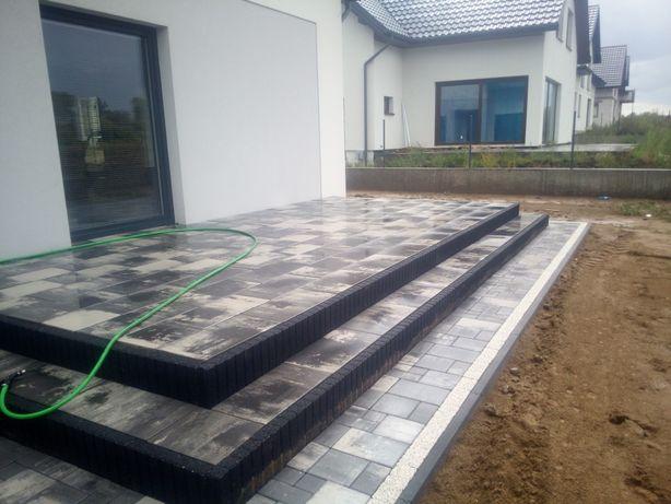 Układanie kostki betonowej granitowej Brukarstwo