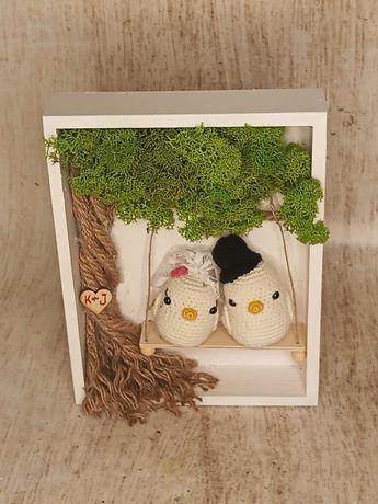 ramka 3d obraz chrobotek ślub