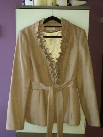 H&M kurtka , płaszcz w kolorze beżowym . Rozmiar 44 .