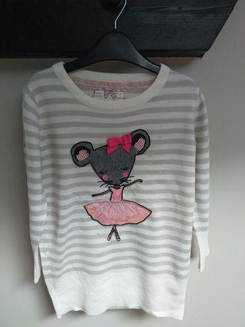 Sweter długi myszka baletnica 116