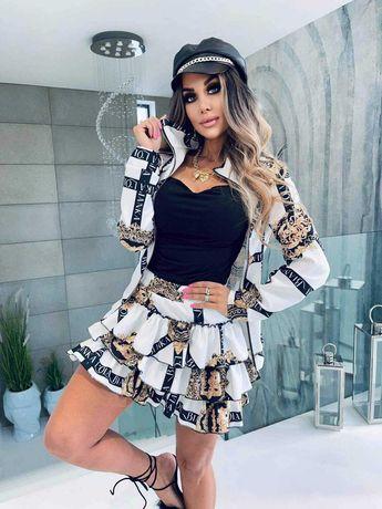 Komplet z boomberką spódnica bluza Lola Bianka
