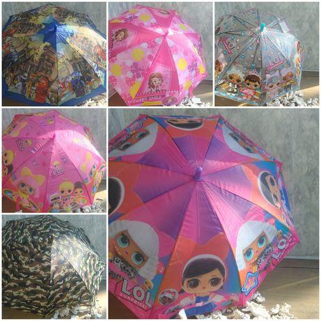 Детский зонтик для девочки или мальчика Лол софия миньйон ниндзя пони