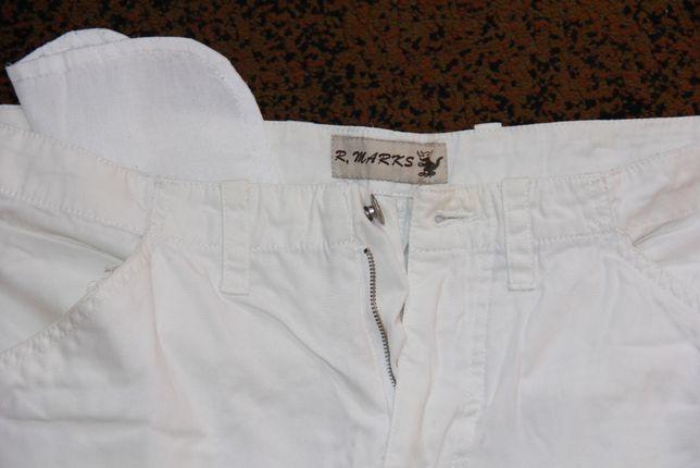 Spodnie ala bojówki białe