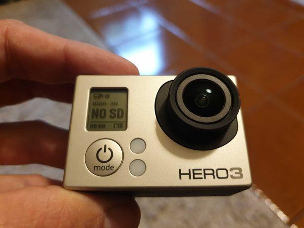 GoPro Hero 3 silver + acessórios