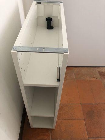 METOD armario baixo c/ prateleiras branco e dois pes 20x60