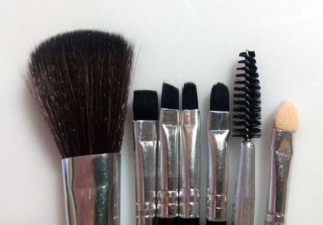 Кисти для макияжа make up плотная кисть для маникюра набор 7 штук