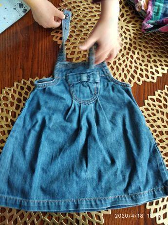 Sukienka Zara Jeans 9-12 m.