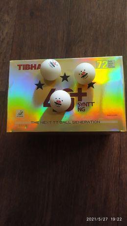 """Мячи для настольного тенниса TIBHAR 3*** 40+ SYNTT """"NG"""" 72 МЯЧА"""