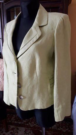 Garnitur damski lniany /marynarka +spodnie/