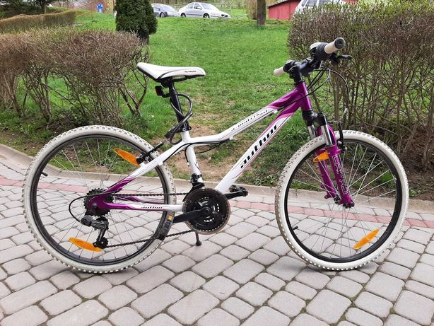 Rower dla dziewczynki Author A-matrix 24 rama alu, biało-różowy