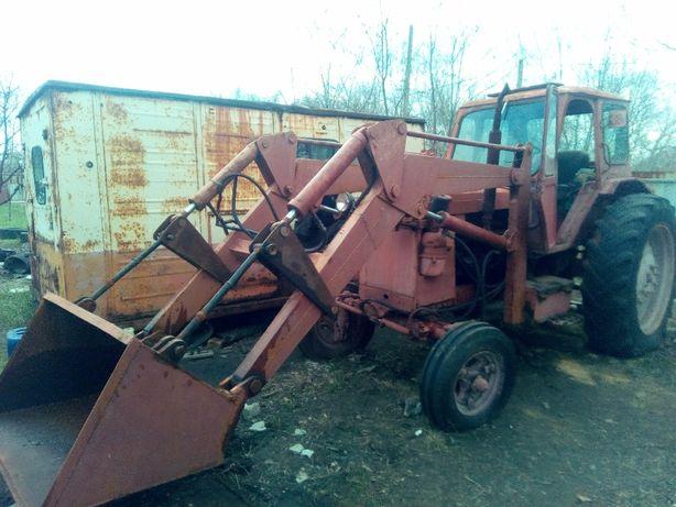 трактор т-40 кун с ковшом, вилами