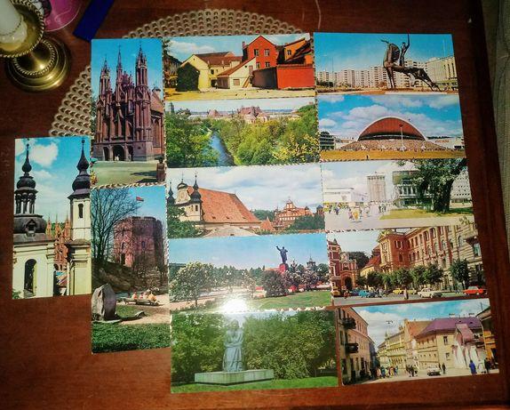 Wilno stare pocztówki komplet 13 sztuk