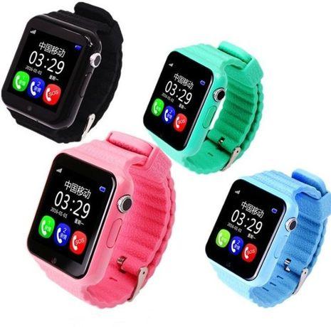 Новые детские Смарт часы V7k. GPS + A-GPS + LBS Smart Baby Watch,