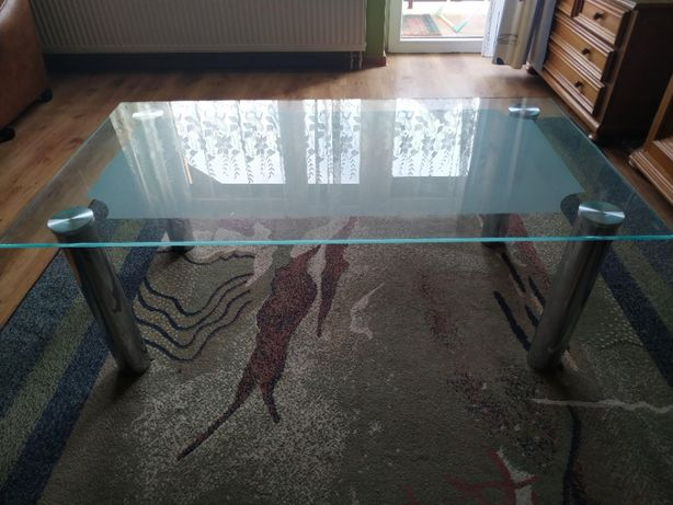 Szklany stół prostokątny