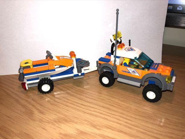 LEGO City 7737 Samochód terenowy i skuter wodny straży przybrzeżnej