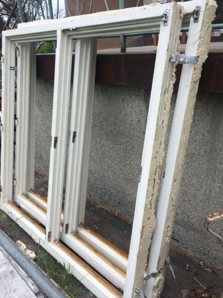 okna drewniane białe z szybami zespolonymi