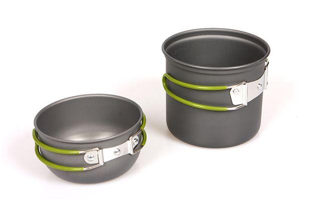 Легкий туристичний посуд з анодованого алюмінію. Посуда котелок.