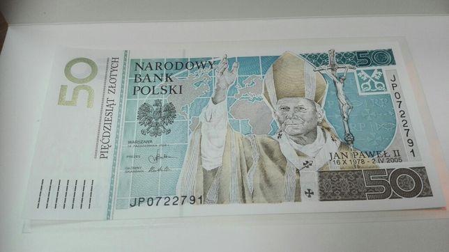 Banknot kolekcjonerski 50 zł Jan Paweł II nowy