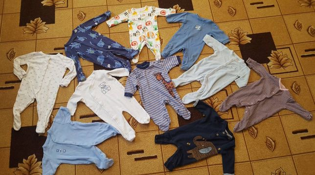 Лот человечкив 0-3мес,слип, ромпер,пижама, человечек пакет,чоловічок