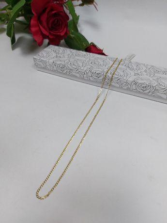 Złoty łańcuszek splot pancerka złoto 585