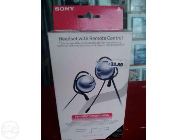 Sony headphones w/ remote control psp