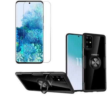 Case Etui Carbon Clear do Samsung Galaxy S20 + Szkło Hartowane