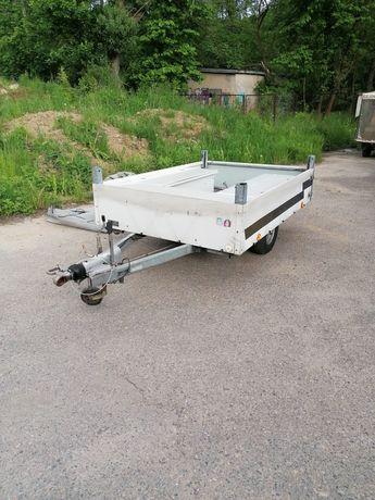 Przyczepka samochodowa transportowa, DMC 650kg, masa własna 220kg