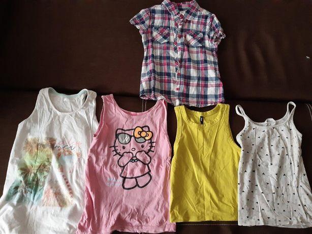 Koszulki dziewczęce, rozmiar 128/134