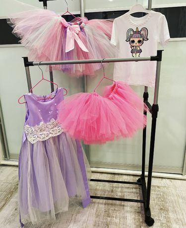 Костюм куклы лол единорожка,радуга,юбка пачка,платье