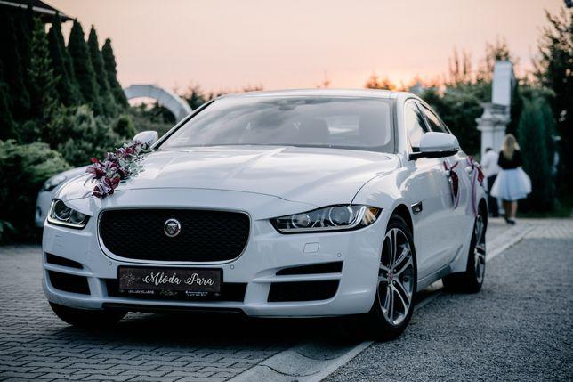Samochód do ślubu biała perła jaguar xe 3.0 v6 340 KM biały