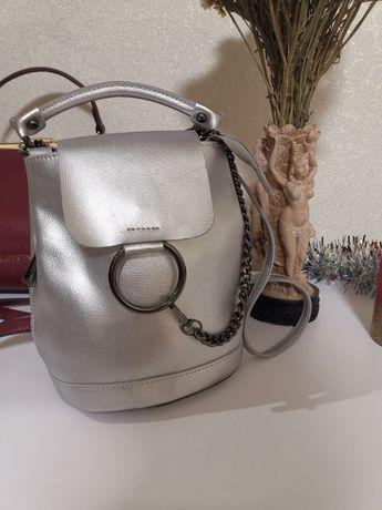 Кожаный городской рюкзак сумка