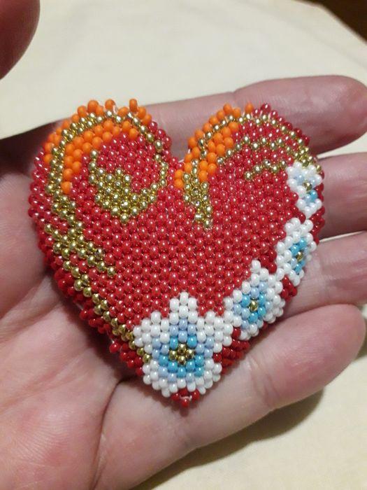 Валентинки из чешского бисера Кривой Рог - изображение 1