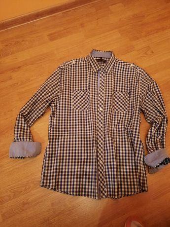 Koszula męska w kratę  XXL slim fit Boston Public