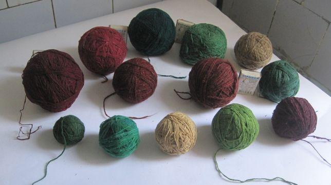 нитки 1-м лотом шерстяные нитки бабушкины цветные